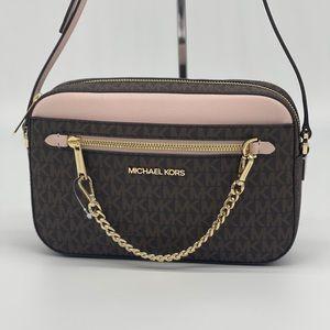 Michael Kors LG EW Zip Chain Xbody Bag